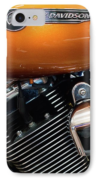 Harley Orange 111516 IPhone Case by Rospotte Photography
