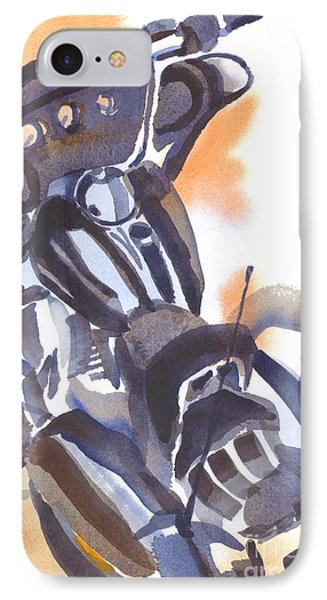 IPhone Case featuring the painting Motorcycle Iv by Kip DeVore