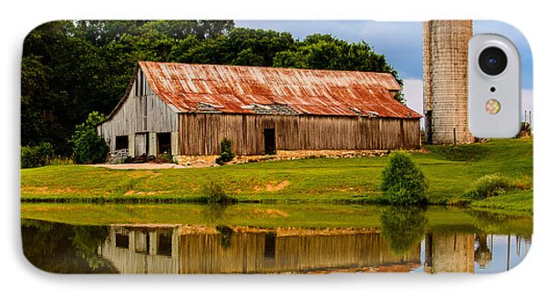 Harlinsdale Barn Reflection IPhone Case