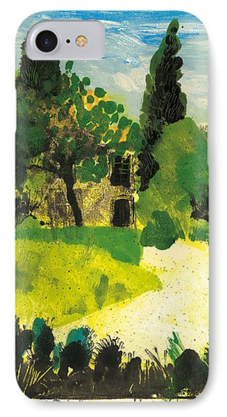 IPhone Case featuring the painting Harmas Henri Fabre Provence Garden by Martin Stankewitz