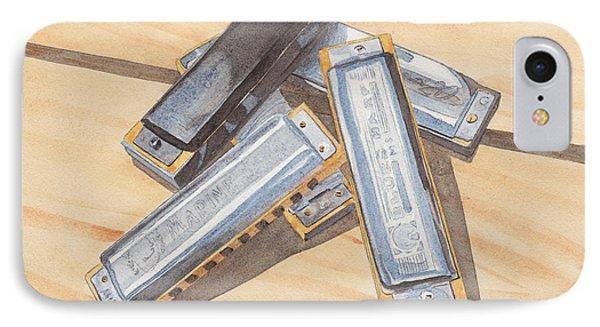 Harmonica Pile Phone Case by Ken Powers