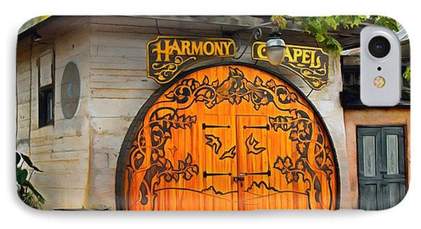IPhone Case featuring the photograph Harmony Chapel Harmony California by Barbara Snyder