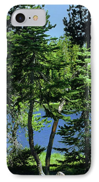 Harmony In Green And Blue - Manzanita Lake - Lassen Volcanic National Park Ca Phone Case by Christine Till