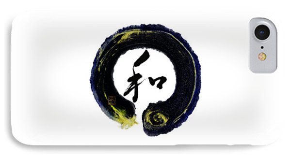 Harmony - Peace With Enso IPhone Case by Peter v Quenter