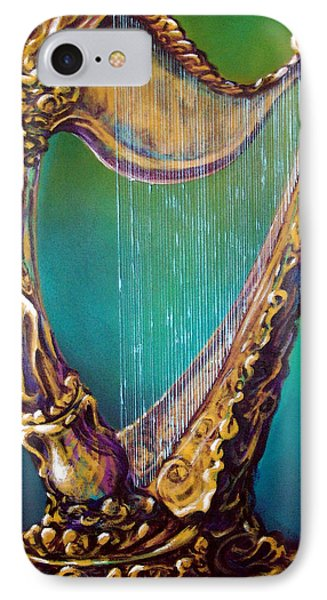 IPhone Case featuring the painting Harp by Kevin Middleton