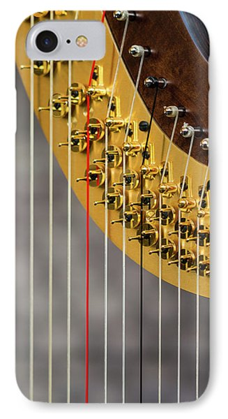 Harp Strings IPhone Case by Marco Oliveira
