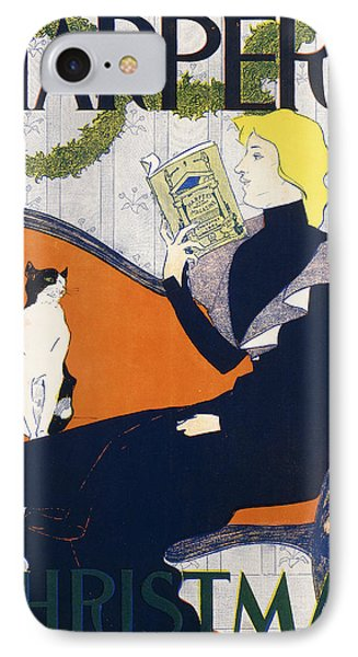 Harper's Christmas IPhone Case by Edward Penfield