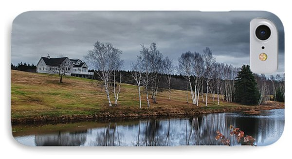 Harpswell Birches 14399 Phone Case by Guy Whiteley