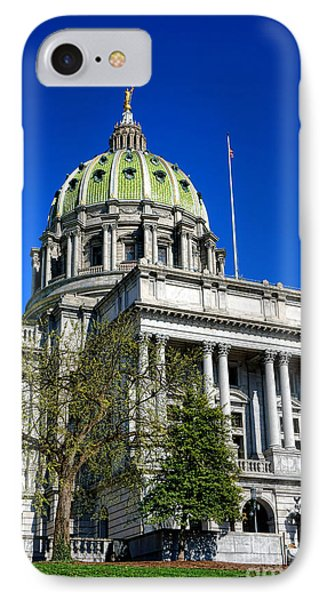 Harrisburg Capitol Building IPhone Case by Olivier Le Queinec