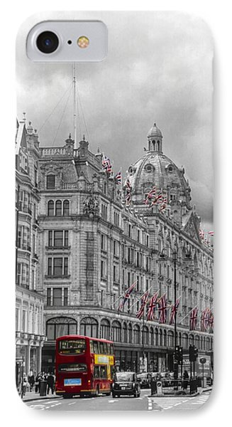 Harrods Of Knightsbridge Bw Hdr IPhone Case by David French