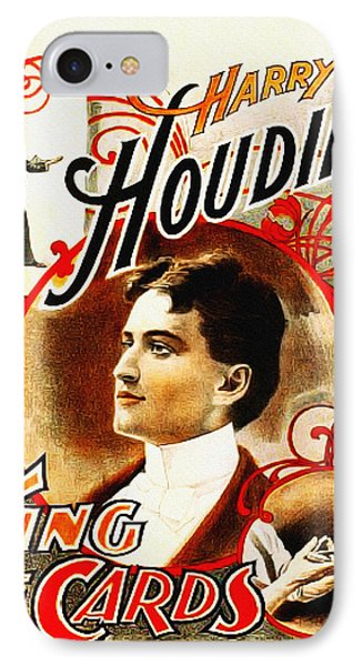 Harry Houdini - King Of Cards Phone Case by Bill Cannon