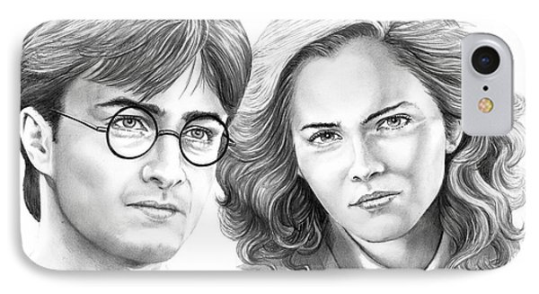 Harry Potter And Hermione Phone Case by Murphy Elliott