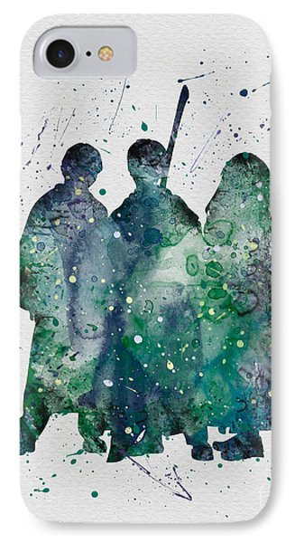 Harry Ronald And Hermione Watercolor  IPhone Case by Vivid Editions