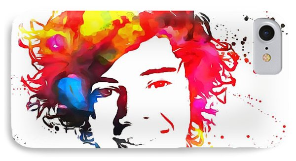 Harry Styles Paint Splatter IPhone Case by Dan Sproul