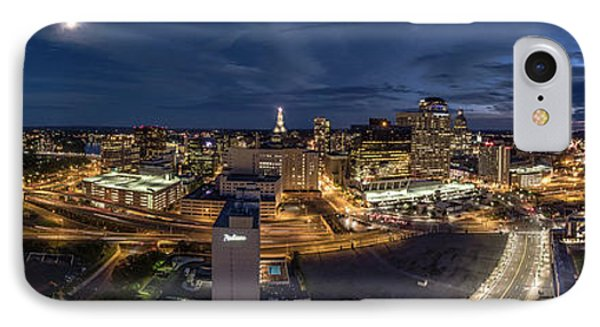 IPhone Case featuring the photograph Hartford Ct Night Panorama by Petr Hejl
