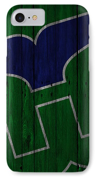 Hartford Whalers Wood Fence IPhone Case by Joe Hamilton