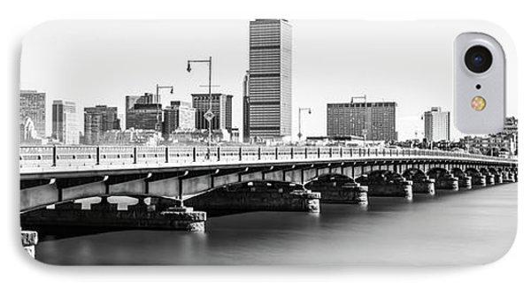 Harvard Bridge Boston Skyline Panorama Photo IPhone Case by Paul Velgos