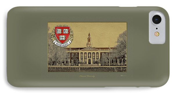 Harvard University Building Overlaid With 3d Coat Of Arms IPhone Case by Serge Averbukh