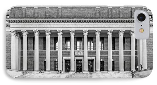 Widener Library At Harvard University IPhone Case by University Icons