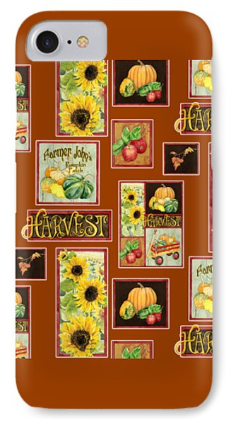 Harvest Market Pumpkins Sunflowers N Red Wagon IPhone Case by Audrey Jeanne Roberts