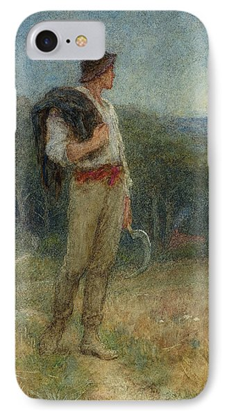 Harvest Moon IPhone Case by Helen Allingham