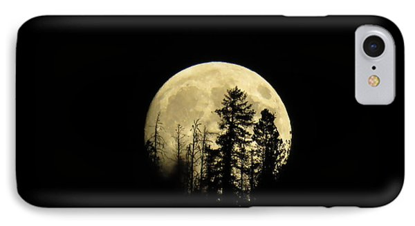 Harvest Moon IPhone 7 Case by Karen Shackles
