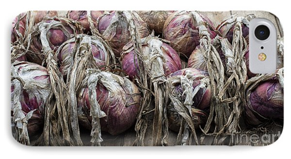 Harvested Onions Red Winter IPhone Case by Tim Gainey