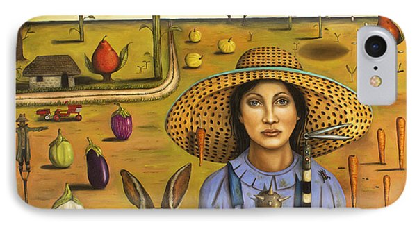Harvey And The Eccentric Farmer Phone Case by Leah Saulnier The Painting Maniac