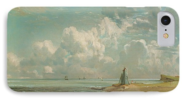 Harwich - The Low Lighthouse And Beacon Hill IPhone Case by John Constable