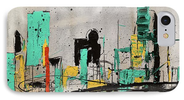 IPhone Case featuring the painting Hashtag City by Carmen Guedez