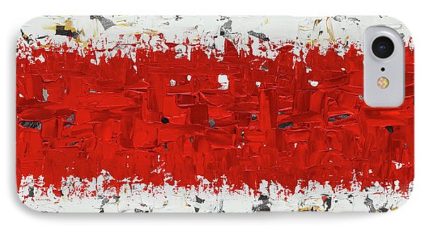 IPhone Case featuring the painting Hashtag Red - Abstract Art by Carmen Guedez
