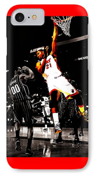 Hassan Whiteside IPhone Case by Brian Reaves