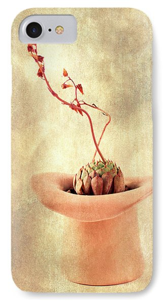 IPhone Case featuring the photograph Hat And Echeveria  by Catherine Lau