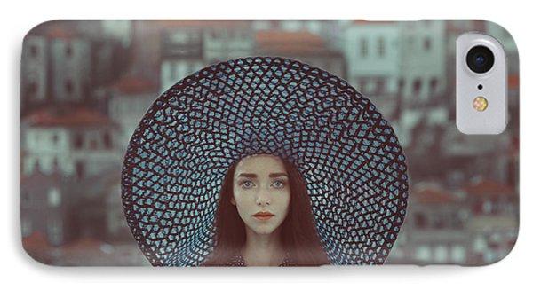 Portraits iPhone 7 Case - Hat And Houses by Anka Zhuravleva