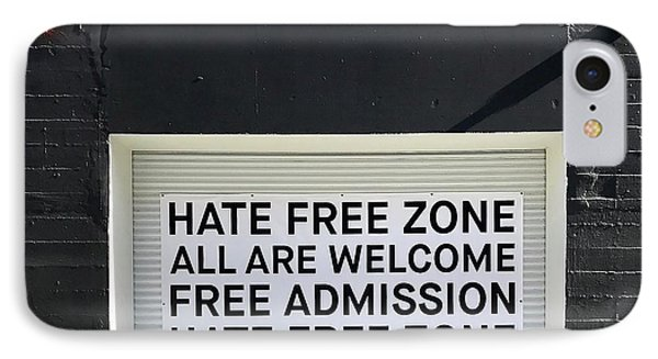 Hate Free Zone IPhone Case