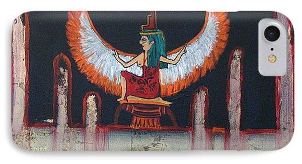 Hathor IPhone Case by Corlia Chameleon