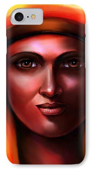 Hathor -egyptian Goddess IPhone Case by Carmen Cordova