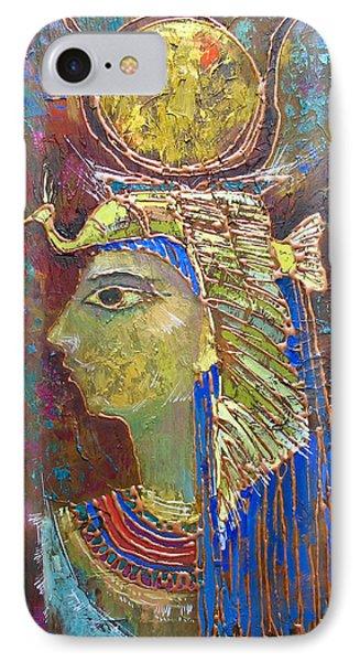 Hathor. Goddess Of Egypt IPhone Case by Valentina Kondrashova