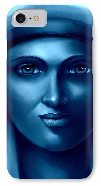 Hathor -the Goddess 2 IPhone Case by Carmen Cordova