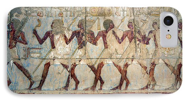 Hatshepsut Temple Parade Of Soldiers IPhone Case by Aivar Mikko