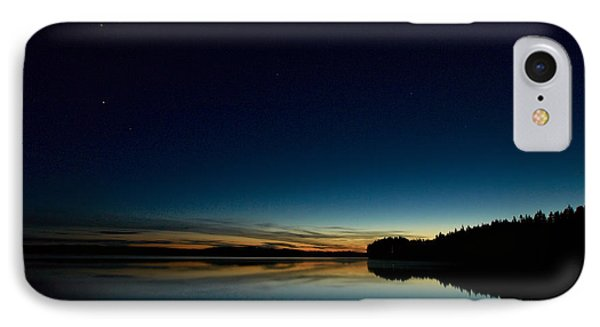IPhone Case featuring the photograph Haukkajarvi By Night With Ursa Major 1 by Jouko Lehto