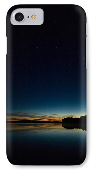 IPhone Case featuring the photograph Haukkajarvi By Night With Ursa Major 2 by Jouko Lehto