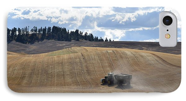 Hauling The Harvest From The Fields. IPhone Case