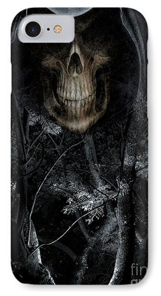IPhone Case featuring the photograph Haunted Forest by Al Bourassa