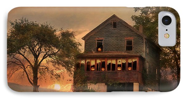 Haunted House IPhone Case by Lori Deiter