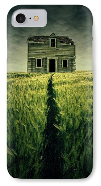 Haunted House IPhone Case by Zoltan Toth