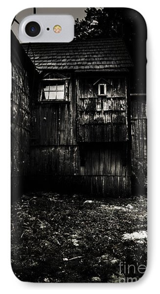 Haunted Outback Cabin In Dark Night Woods IPhone Case by Jorgo Photography - Wall Art Gallery