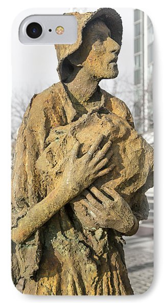 Haunting Reality Famine Memorial And World Poverty Stone IPhone Case by Betsy Knapp