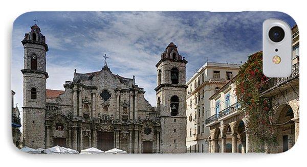 Havana Cathedral. Cuba IPhone Case by Juan Carlos Ferro Duque