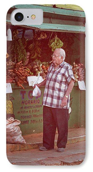IPhone Case featuring the photograph Havana Cuba Corner Market by Joan Carroll